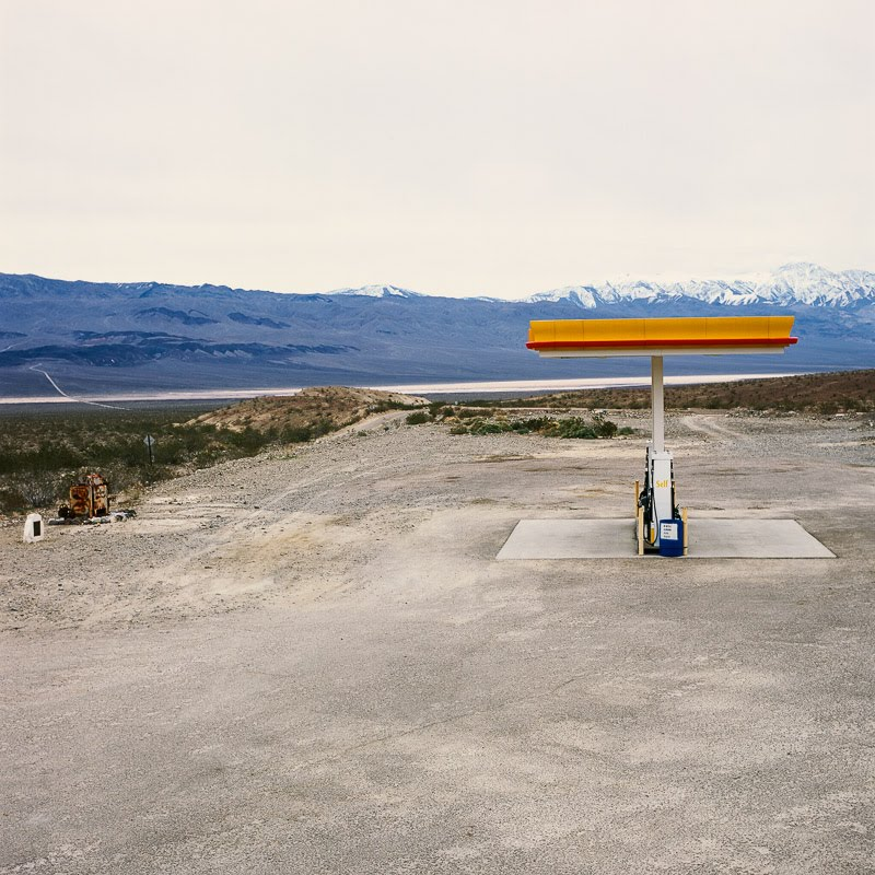 Gas station entering Death Valley